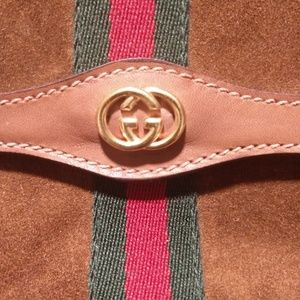 Gucci Bags - Vintage Gucci Suede Parfums Clutch w/box